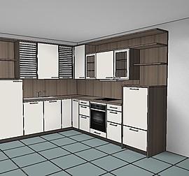 rotpunkt musterk che k che ton in ton ausstellungsk che. Black Bedroom Furniture Sets. Home Design Ideas