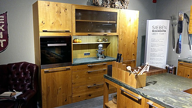 team 7 musterk che loft wildeiche ausstellungsk che in. Black Bedroom Furniture Sets. Home Design Ideas