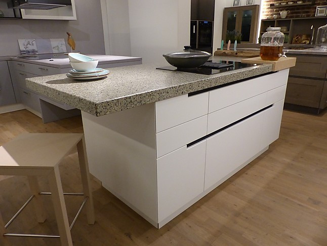 ewemusterküche moderne küche grifflos weiß matt lackiert