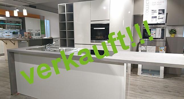 Häcker-Musterküche Moderne grifflose Küche in Lack hochglanz Weiß ... | {Häcker küchen grifflos 95}