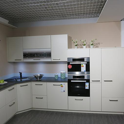 Apéro Küchen-Musterküche Moderne L-Küche In Farbe Magnolie