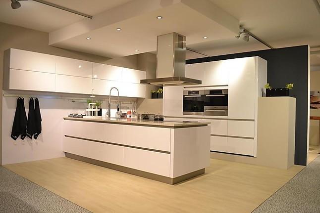 Schüller - Next NL501 Hochglanzlack Polarisweiß, Grifflose Designer - Küche