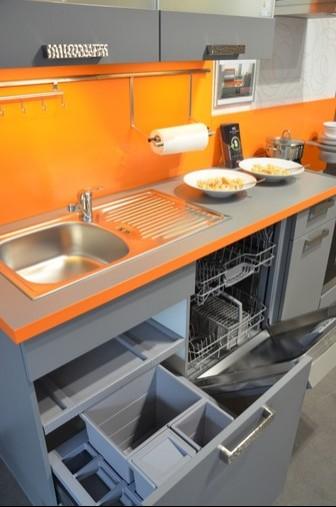 Küchenzeile Beleuchten ~ nobilia musterküche graue küchenzeile mit schicker absatzfarbe ausstellungsküche in gummersbach