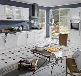inpura musterk che kleine k che mit viel stauraum lotus wei ummantelt matt ausstellungsk che. Black Bedroom Furniture Sets. Home Design Ideas
