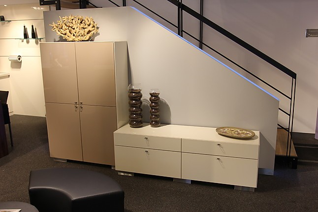 warendorf musterk che f12 hochglanz cr me cappuccino ausstellungsk che in luxembourg von. Black Bedroom Furniture Sets. Home Design Ideas
