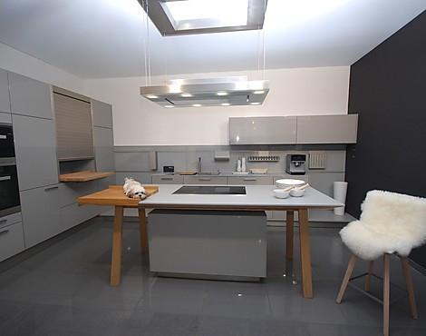 Außergewöhnliche küche nx 501 steingrau hochglanz lack