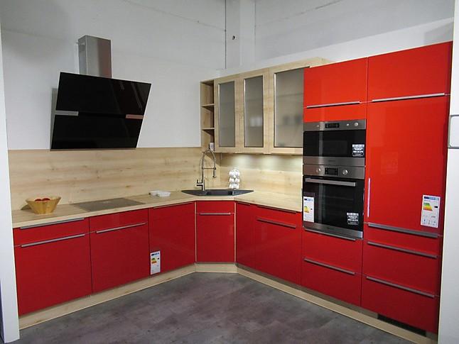 Sehr burger-Musterküche Aussergewöhnliche L-Küche in Hochglanz Rot QC78