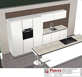 nobilia musterk che k che 2 laminatlack schwarz matt bronze ausstellungsk che in weissach. Black Bedroom Furniture Sets. Home Design Ideas