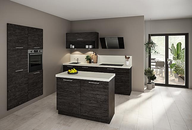 marquardt k chen musterk che aktionsk che classic mit granit und neff ger ten zwei zeilenk che. Black Bedroom Furniture Sets. Home Design Ideas