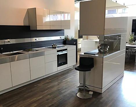 +ARTESIO   Stilvolle Küche Im Außergewöhnlichem Design Mit Glasvitrine!
