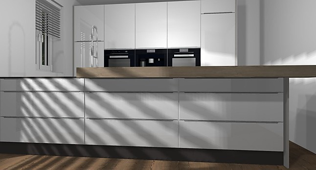 nobilia musterk che k che mit k chenzeile in hochglanz und den top ger ten von bosch und bora. Black Bedroom Furniture Sets. Home Design Ideas