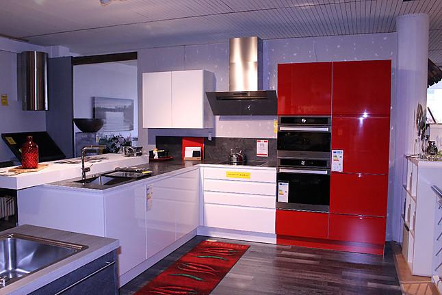 sonstige musterk che sch ne rot wei e lack hochglanz k che. Black Bedroom Furniture Sets. Home Design Ideas