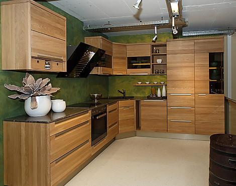massivholzk che ausstellungsst ck. Black Bedroom Furniture Sets. Home Design Ideas