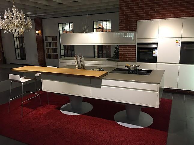 Sonstige-Musterküche Küche weiß Lack auf Füßen -: Ausstellungsküche ...