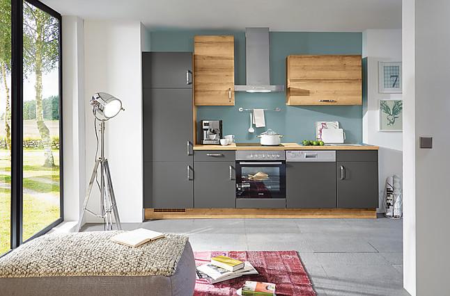 Küchenzeile modern  Nobilia-Musterküche Küchenzeile modern und zeitlos inkl. Geräte ...