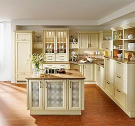 hausmarke musterk che blau englische landhausk che aus massivholz ausstellungsk che in. Black Bedroom Furniture Sets. Home Design Ideas