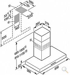 dunstabzug 90 cm wand esse miele pur 96 w edelstahl dunstabzugshaube wandhaube miele. Black Bedroom Furniture Sets. Home Design Ideas