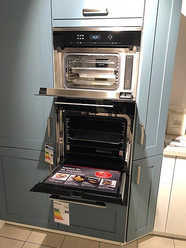 Global küchen csa blaugrau dos weiß seidenglanz u küche landhaus 1 5