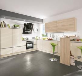 nobilia musterk che angebotsk che von nobilia modell focus line n grifflos aeg. Black Bedroom Furniture Sets. Home Design Ideas