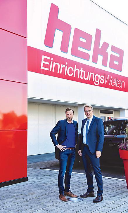 Geschäftsführer Patrick Lahmer und Verkaufsleiter Kim Lahmer