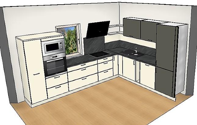 burger musterk che hochwertige moderne eckk che mit ger ten ausstellungsk che in grimma. Black Bedroom Furniture Sets. Home Design Ideas