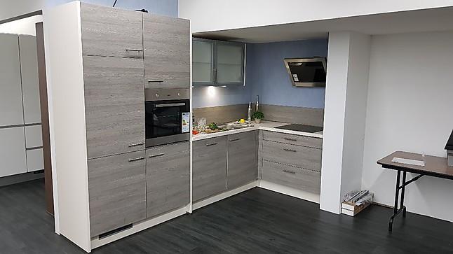 Gut gemocht Impuls-Musterküche schöne kleine L-Küche in BiColor MU02