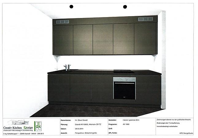 h cker musterk che h cker av 1080 gl basaltgrau ausstellungsk che in itzstedt von creativ. Black Bedroom Furniture Sets. Home Design Ideas