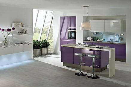 Designerküche Violett