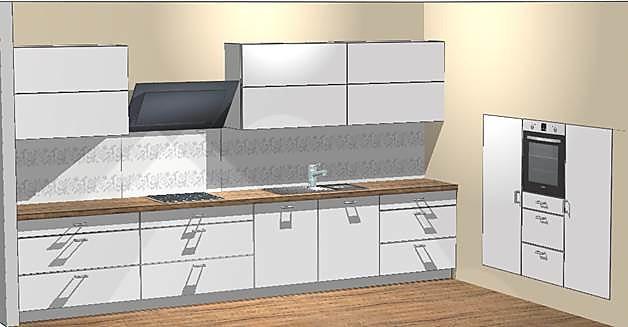 burger musterk che hochwertige einbauk che gl nzend mit einbauger ten ausstellungsk che in. Black Bedroom Furniture Sets. Home Design Ideas