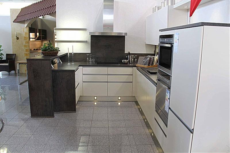 Nobilia Musterküche Moderne U Küche mit Theke