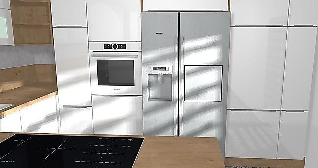 Nobilia Musterküche Hochglanz U Küche Mit Bosch Geräten Und Side By