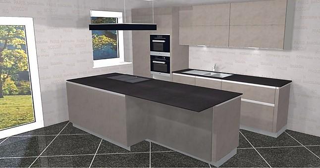 leicht musterk che zeitlose designk che in echt beton f r anspruchsvolle grifflos mit miele und. Black Bedroom Furniture Sets. Home Design Ideas