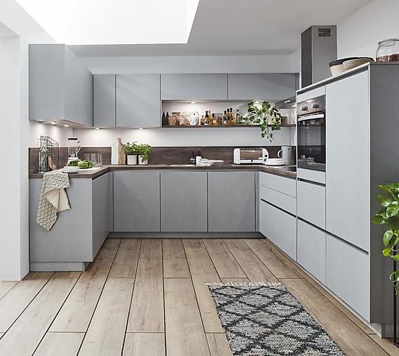 Linea-Musterküche Grifflose komplett Küche in U-Form XL ...