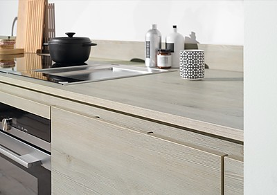 Küche mit Griffleisten von Beckermann