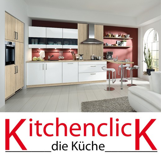 kitchenclick musterk che moderne k chenzeile mit theke ausstellungsk che in fulda von k chen kabsch. Black Bedroom Furniture Sets. Home Design Ideas