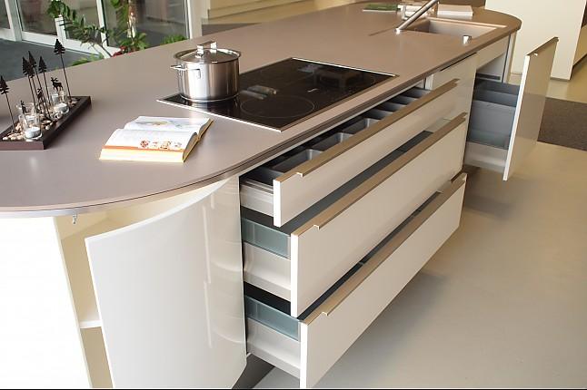 h cker musterk che traumk che runde insel lack hochglanz elements arbeitsplatte. Black Bedroom Furniture Sets. Home Design Ideas