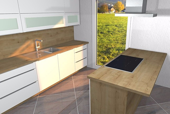 nobilia musterk che samt matte k che mit insel hoch gebautem backofen voll integrierter. Black Bedroom Furniture Sets. Home Design Ideas