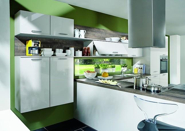 Nobilia focus weiß ultra hochglanz moderne l küche mit lackfront