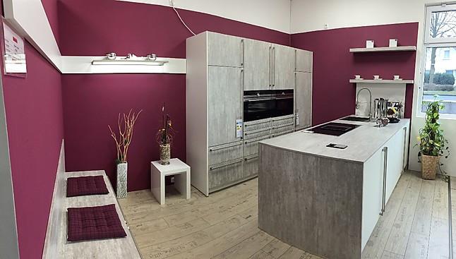 Häcker musterküche elegant moderne küchenzeile mit kochinsel und