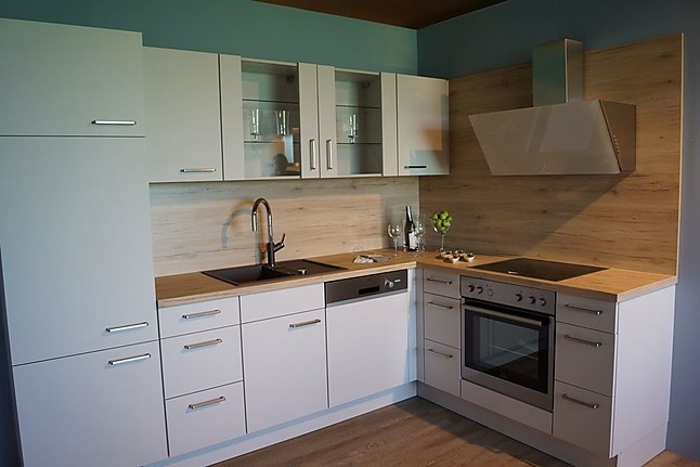 Nobilia Musterküche L Küche seidengrau Ausstellungsküche