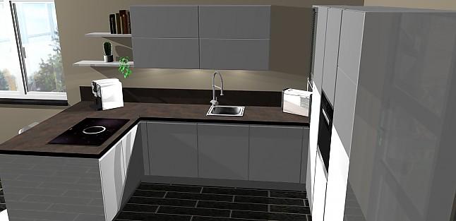 nobilia musterk che umplanbare gifflose lack hochglanzk chen mit bora induktionskochfeld und. Black Bedroom Furniture Sets. Home Design Ideas