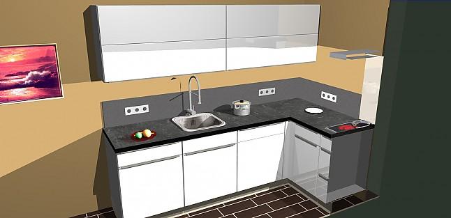 nobilia musterk che umplanbare l lack k che mit. Black Bedroom Furniture Sets. Home Design Ideas