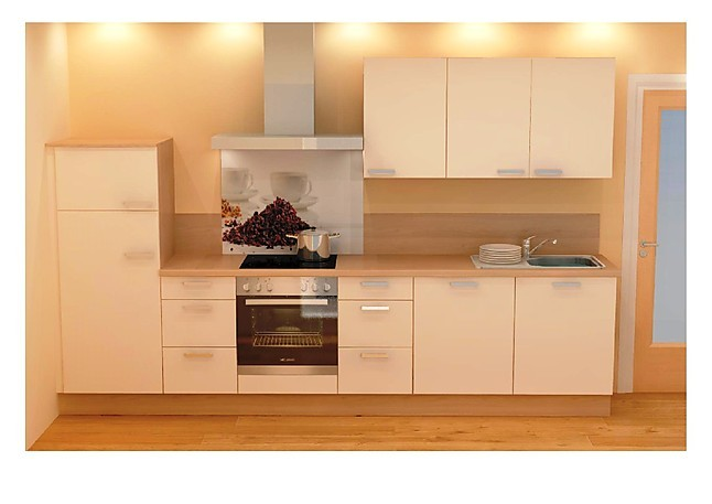 Küchenzeile Individuell ~ nobilia musterküche magnolia matt eiche san remo nachbildung ausstellungsküche in von
