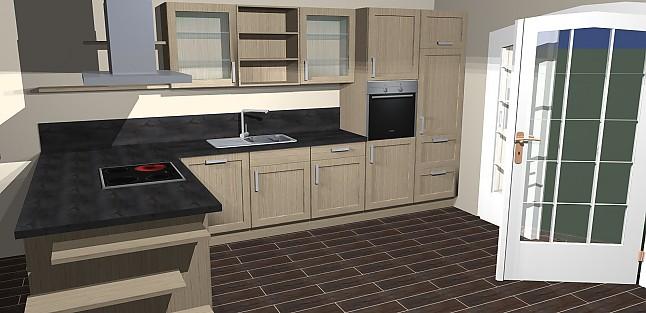 nobilia musterk che umplanbare moderne l k che mit insel in holzoptik ink ger ten frei. Black Bedroom Furniture Sets. Home Design Ideas