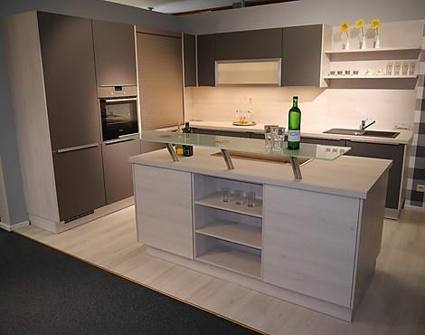 L küche mit kochinsel touch lacklaminat
