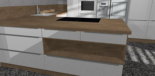nobilia musterk che hochglanz u k che mit bosch ger ten und side by side k hlschrank. Black Bedroom Furniture Sets. Home Design Ideas