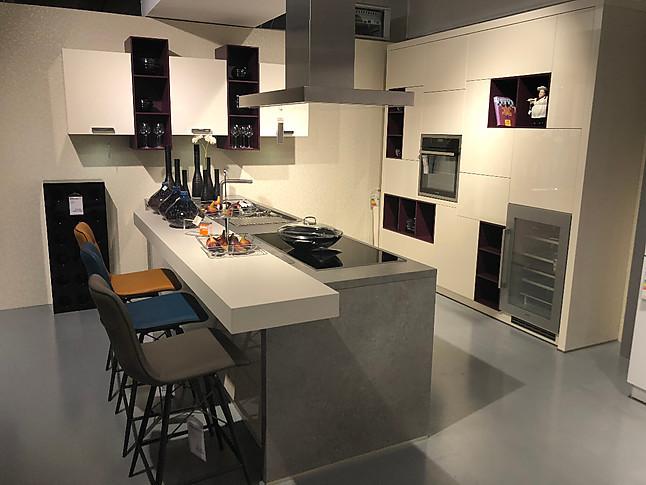 Global Küchen-Musterküche moderne Hochglanz Küche mit ...