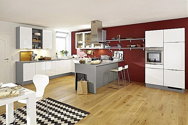 k chentreff musterk che hochglanz u k che mit theke ausstellungsk che in von. Black Bedroom Furniture Sets. Home Design Ideas