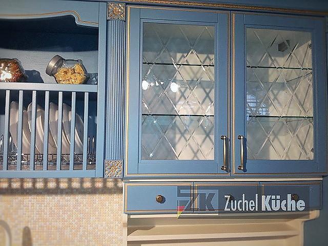 Hausmarke-Musterküche Blau Englische Landhausküche aus Massivholz ...