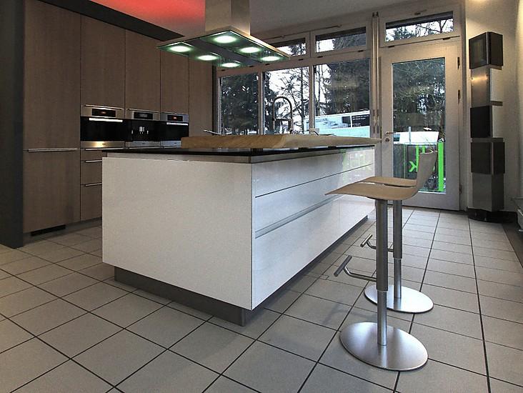 Hellgrau ausstellungsküche in ottobrunn von die moderne küche